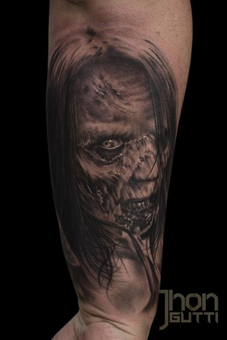 Tattoos - ZOMBIE FRIEND PORTRAIT - 114967